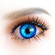 Цвет глаз темно-синий