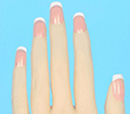 Kuku Warna Pink French Manicure