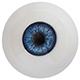 Боја очију блиставо плава