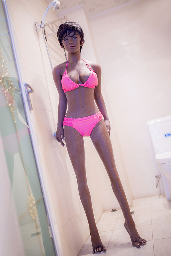 Skinny Body Small Chest Adult Partner Lydia Tony 148CM Sex Doll Dark Skin-8_11