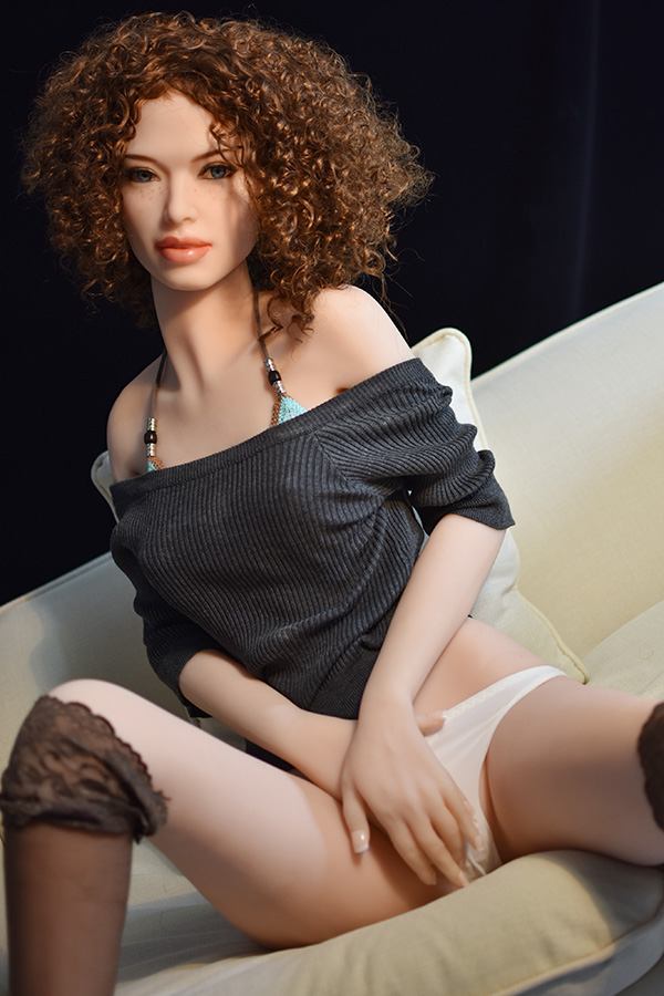 Freckled Face Setlla Noel Slim Body 165CM Small Chest TPE Doll Blue Eye Adult Companion-18