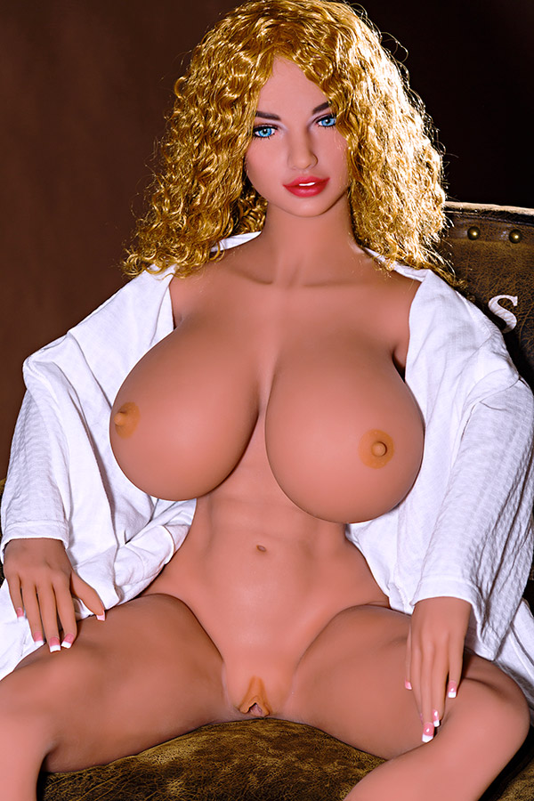 Small Waist Red Lips Big Breasts Yellow Wavy Curly Hair Wanda Hoover TPE Doll-54