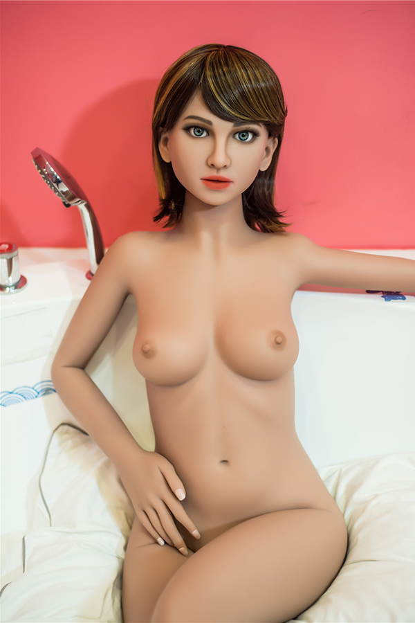 Loraer - 155CM Small Chest Realistic Makeup Real Pussy TPE Sex Doll-14