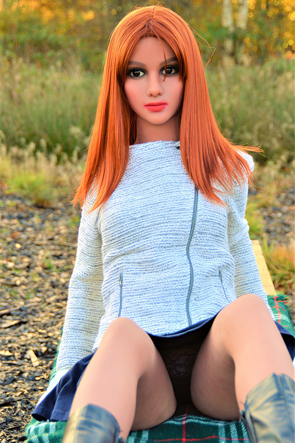 Hewlett - 155CM Outdoor Passion Redhead Brown Skin TPE Sex Doll-14