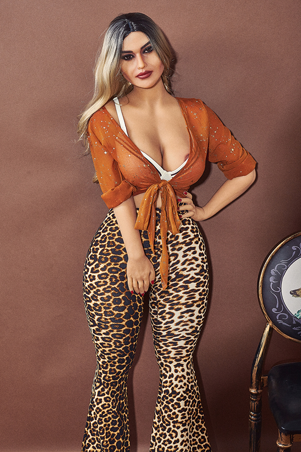 Andrea - 156CM Big Breasts Mature Women Sexy Leopard Print BBW Sex Doll-14