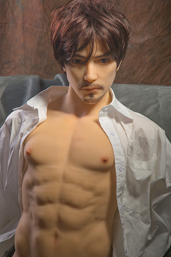 Elton - Big Penis Half Body Japanese Handsome Male Sex Doll-14