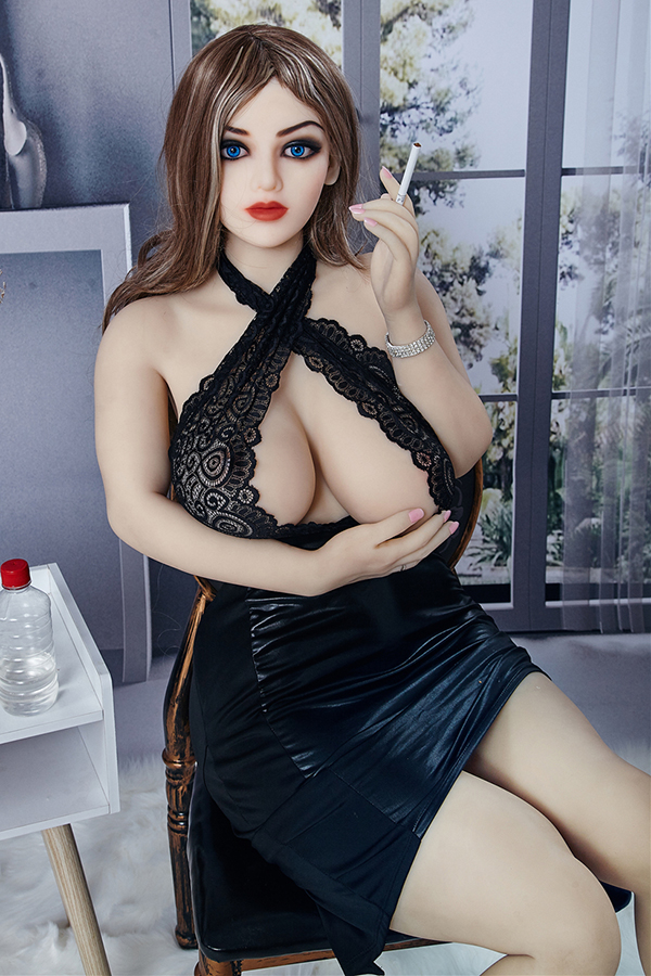 Natalie - 158CM Blue Eyes Soft Big Breasts Best Lover TPE Sex Doll-14