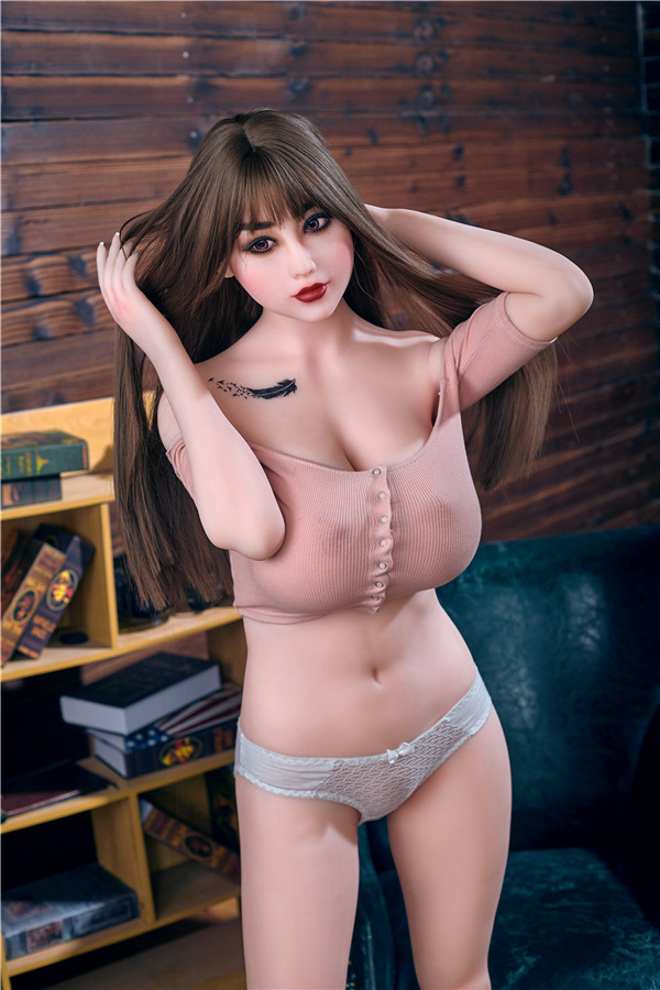 Robeson - 163 cm plus ružové dievča Perfect Busty Soft Buttocks TPE Sex Doll-36