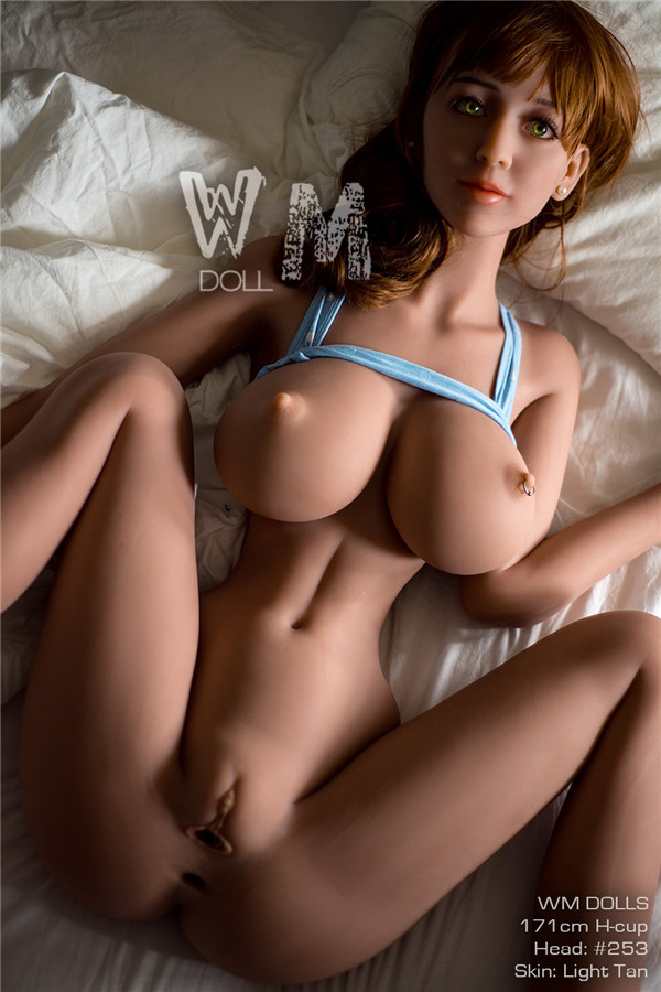 Samson - 171CM H-cup WM NO.253 Head Light Tan Skin TPE Sex Doll Live Toy Model-54