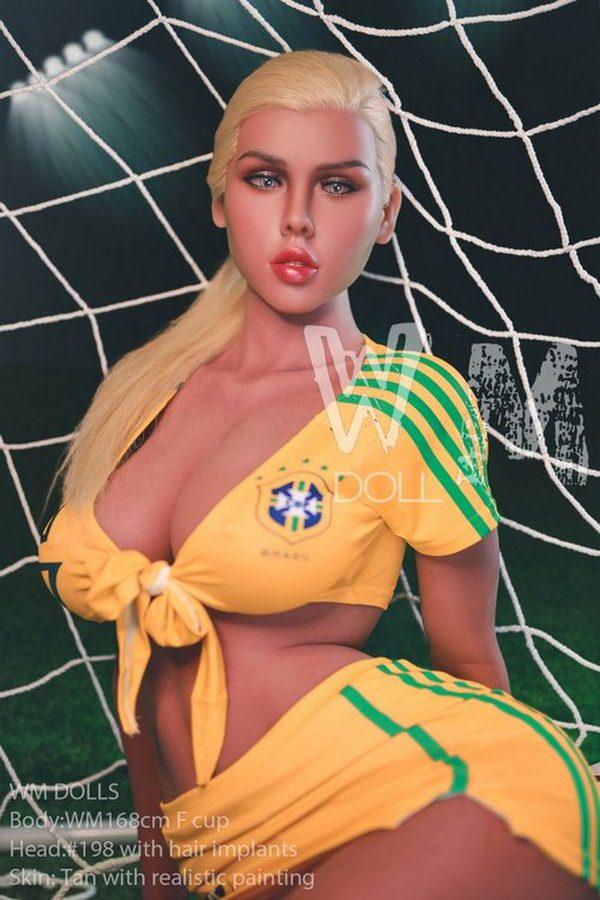 Zoe-Football Baby Ausgezeichnete Torhüterin Erwachsene Puppe Sy Puppe Vollbusige F-Tasse