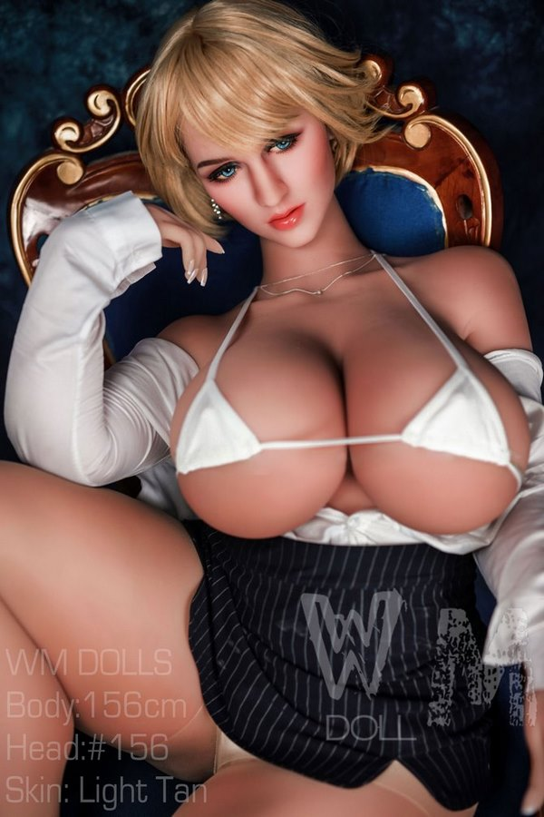 Claudia-WM Übergroße Brüste M-Tasse Blond Kurzes Haar Big Butt Sex Doll-14