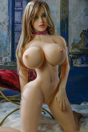 Sexy Big Ass Blond Hair Green Eyes 153CM Susie Emma TPE Adult Sex Doll